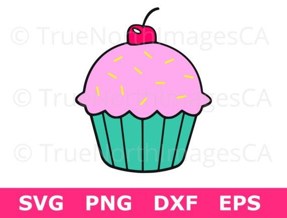 570x434 Cupcake Clipart Cupcake Svg File Cupcake Vector Cupcake Etsy