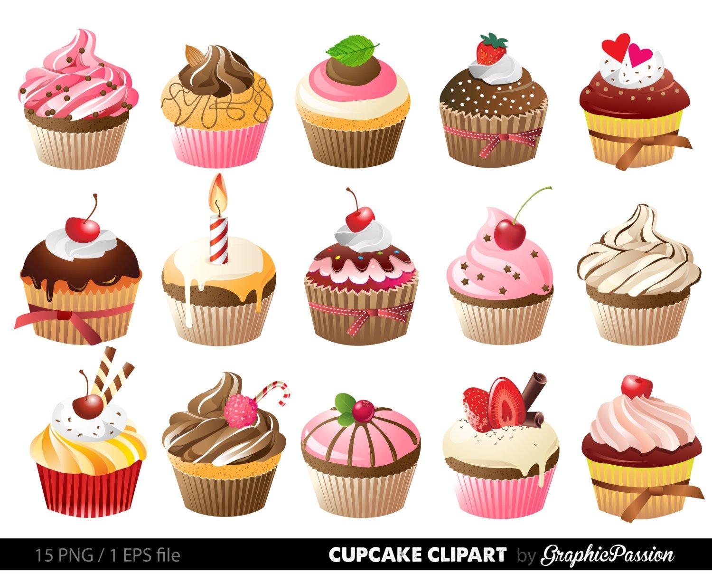 1500x1208 Cupcakes Clipart Digital Cupcake Clip Art Cupcake Digital Etsy