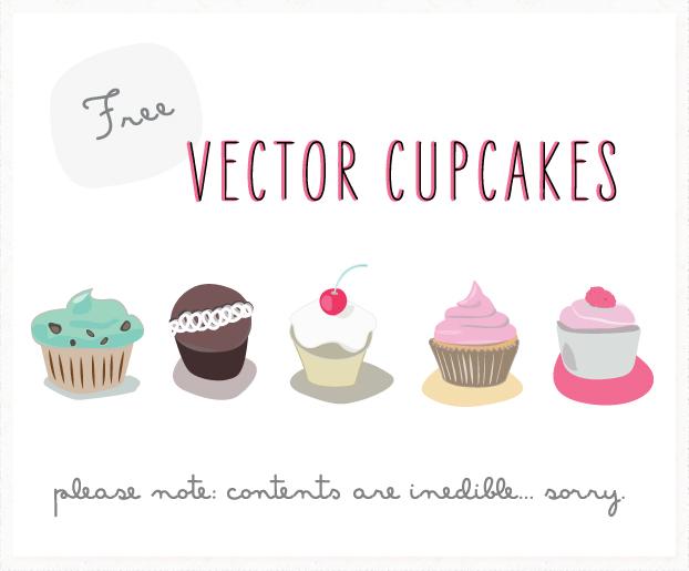 622x515 Free Vector Cupcakes