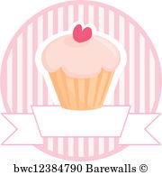 180x194 Art Print Of Muffin Cupcake Vector Sign Barewalls Posters