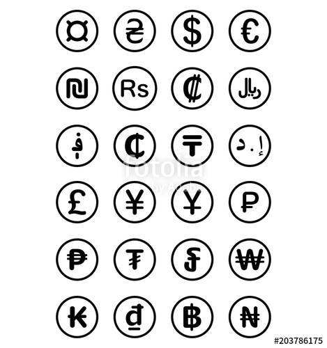 Currency Symbols Vector at GetDrawings com | Free for personal use