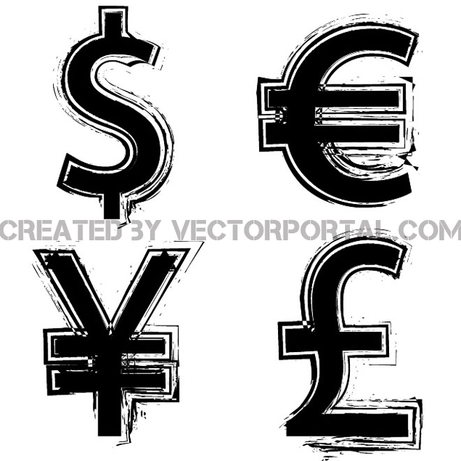 660x660 Currency Symbols Free Vector 123freevectors