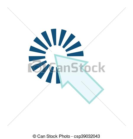 450x470 Cursor Arrow Pointer Touch Technology Icon. Vector Graphic. Cursor
