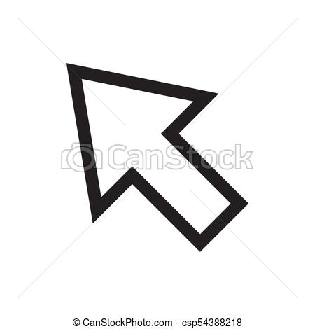 450x470 Cursor Icon Vector Illustration. Free Royalty Images. Cursor Icon
