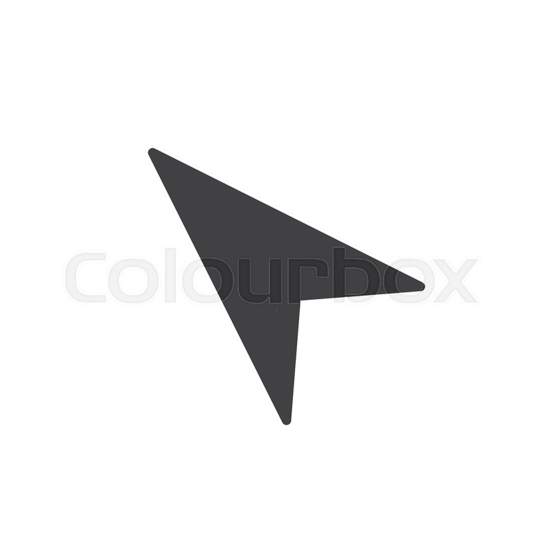 800x800 Mouse Cursor Icon Vector, Filled Flat Sign, Solid Pictogram