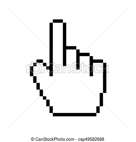 450x470 Vector Modern Hand Cursor Icon On White Background. Vector Modern