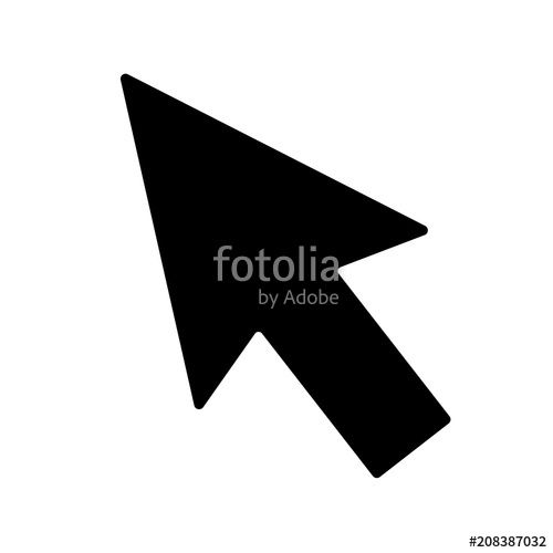 500x500 Arrow Icon. Mouse Arrow Cursor Icon, Mouse Icon Vector, In Trendy