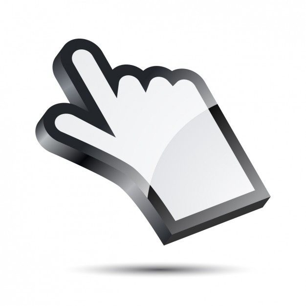 626x626 Hand Cursor Vector Free Download