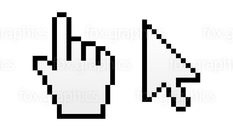 896x504 Hand Pointer And Arrow Cursor (Vector)