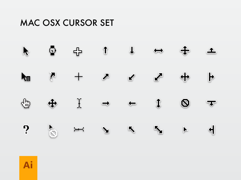 800x600 Mac Cursor Set By Emiliano
