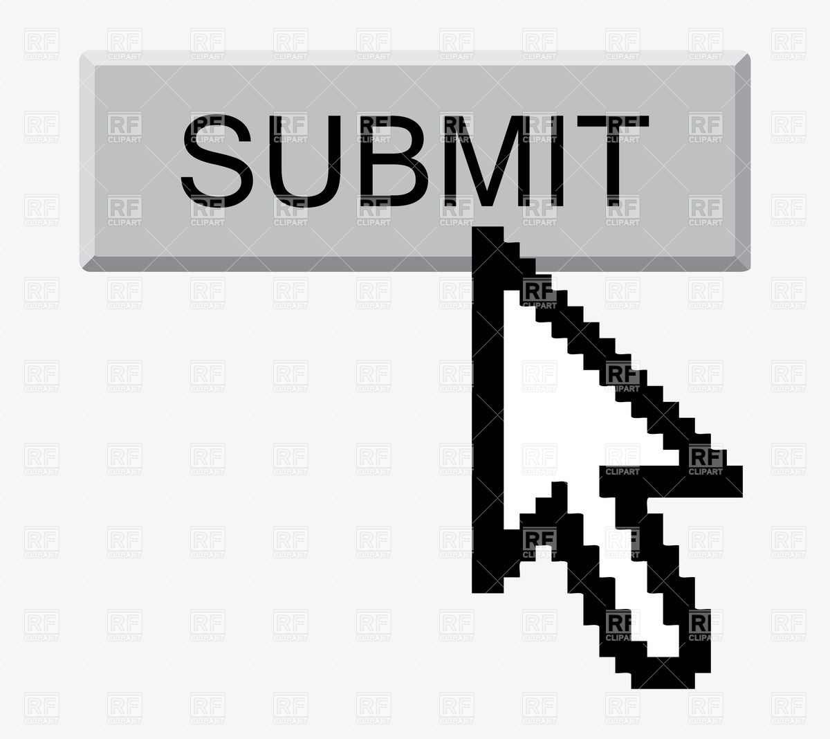 1200x1068 Submit Button And Arrow Cursor Vector Image Vector Artwork Of