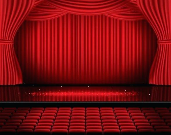 588x463 Red Curtain Stage And Red Curtain Vector Background Red Curtains