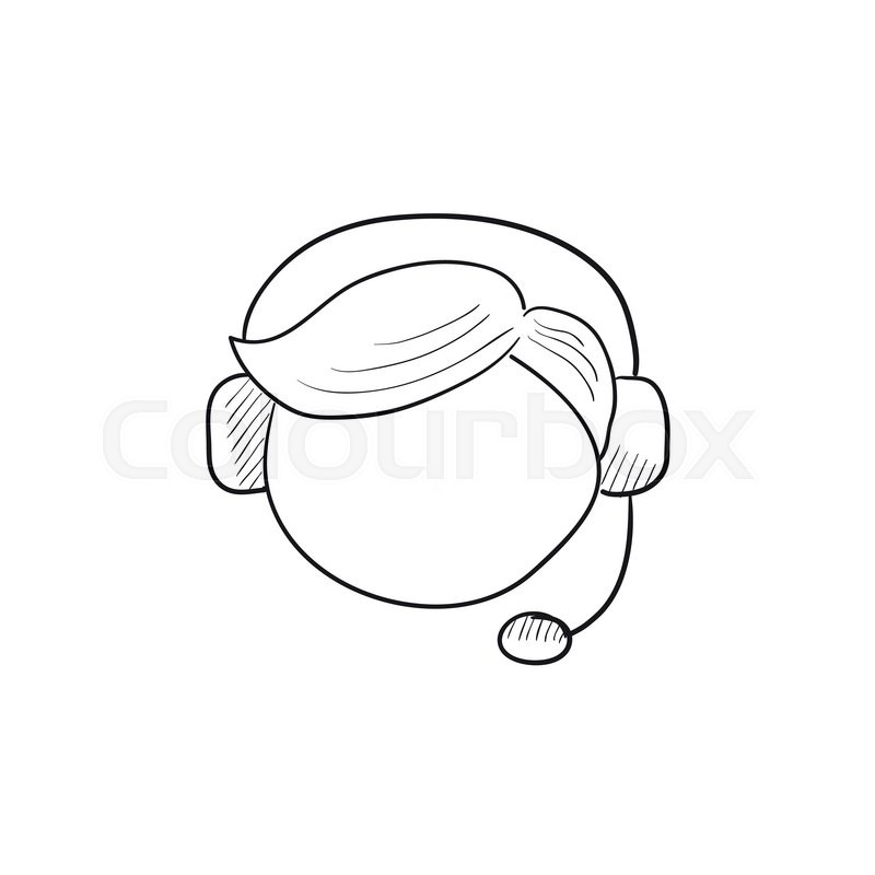 800x800 Customer Service Vector Sketch Icon Isolated On Background. Hand