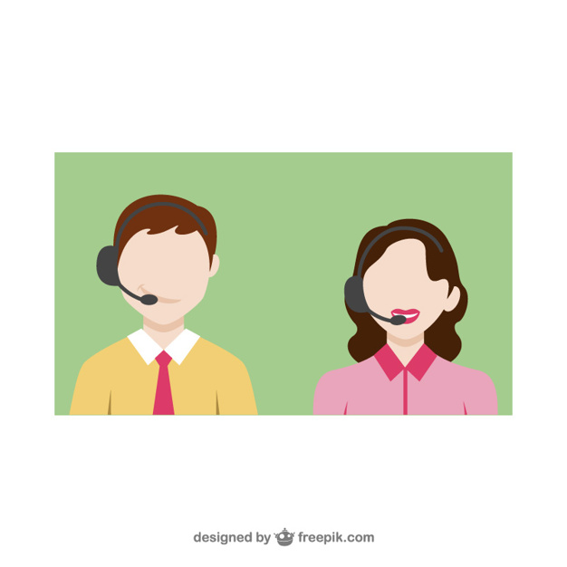 626x626 Customer Service Call Vector Free Download