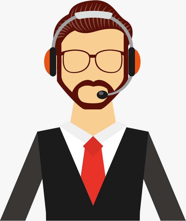 650x772 Male Customer Service Vector With Glasses, Glasses Vector