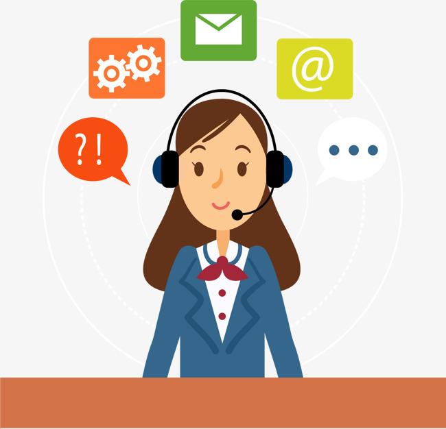 650x626 Network Customer Service, Network Vector, Vector Material, Website