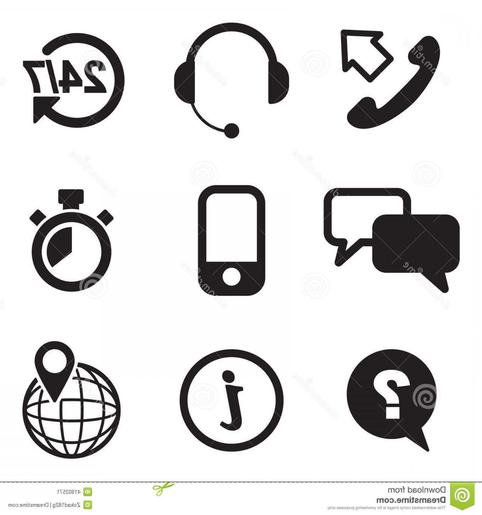 1560x1668 Stock Illustration Customer Service Icons Image Vector