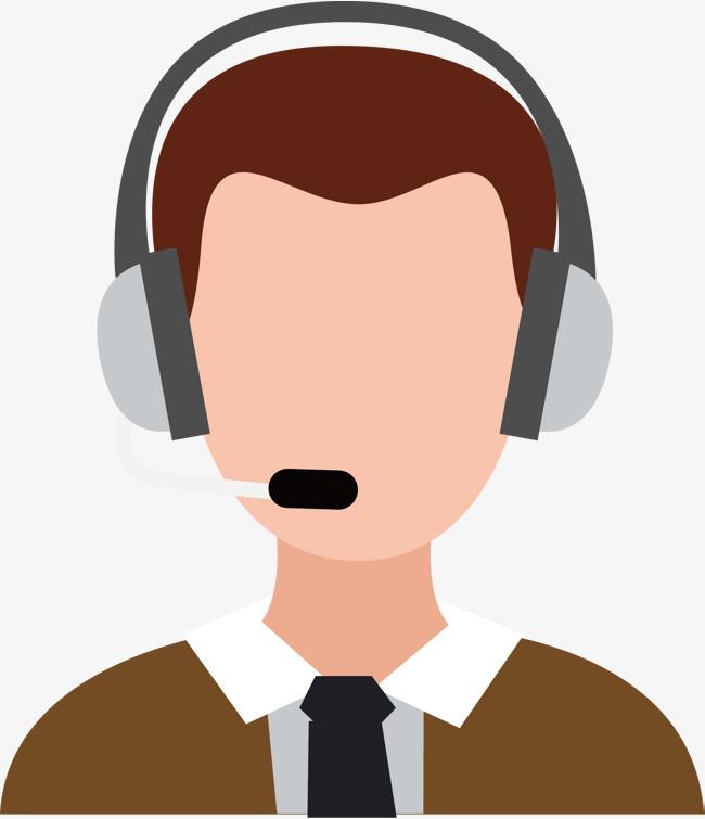 650x755 Vector Male Customer Avatar, Vector Diagram, Customer Service