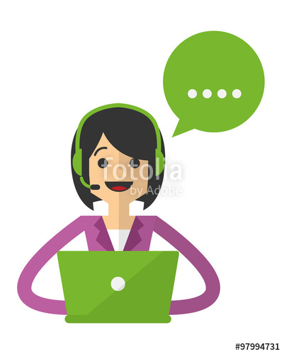 401x500 Vector Of A Business Woman Do A Customer Service Stock Image And