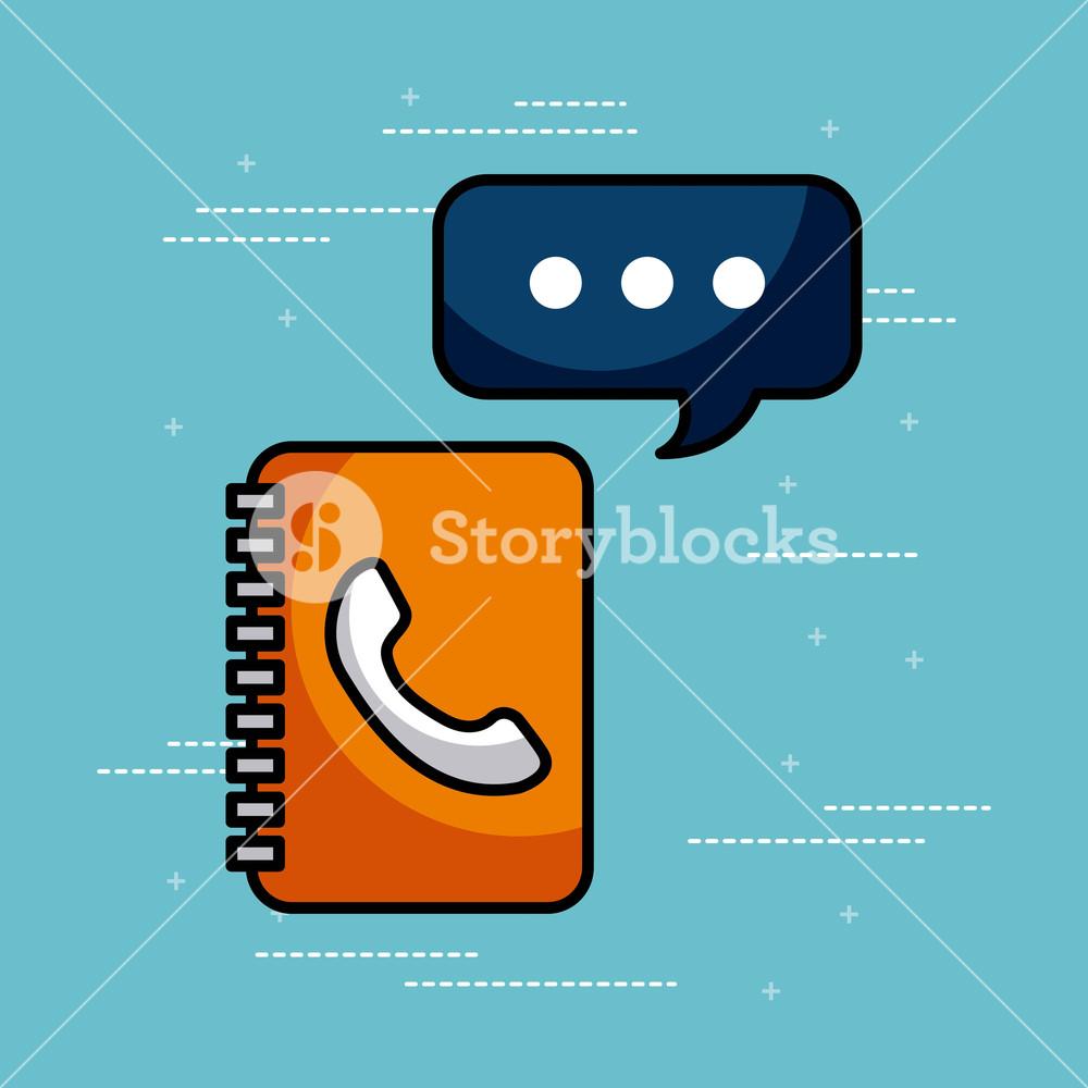 1000x1000 Address Book Contac Message Call Center Customer Service Vector