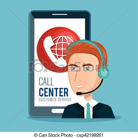 450x451 Call Center Customer Service Vector Illustration Design.