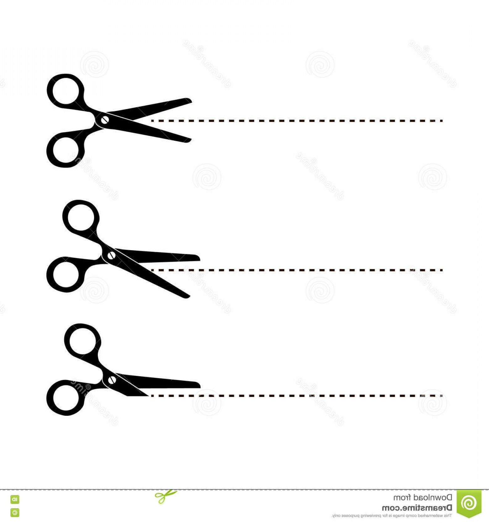 1560x1668 Stock Illustration Cut Here Scissors Vector Illustration Symbol
