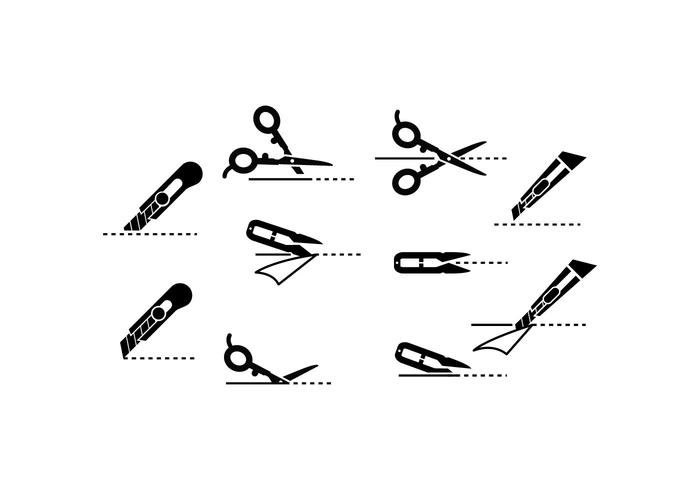 700x490 Free Scissors Icon With Cutting Lines Vector