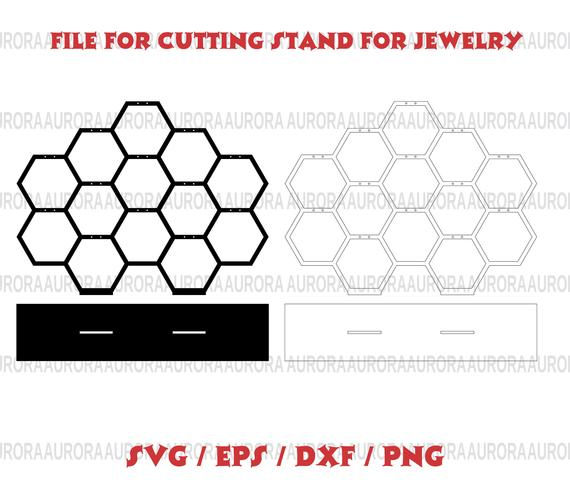 570x492 Jewelry Displays Svg Laser Cut Vector Cnc File For Cutting Etsy
