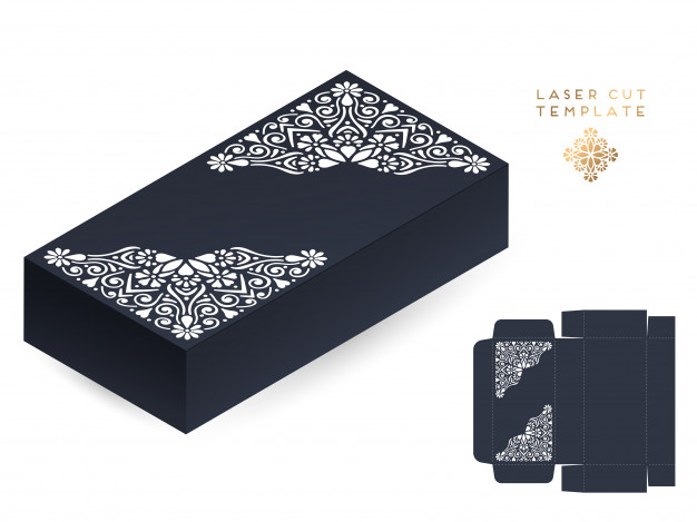 626x469 Vector Wedding Card Laser Cut Template Box Vector Free Download