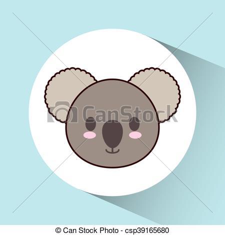 450x470 Kawaii Koala Icon. Cute Animal. Vector Graphic. Cute Animal Design