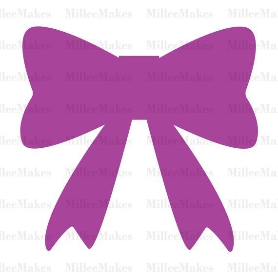 570x570 Cute Bow Vector Bow Silhouette Svg Bow Clipart Htv Vinyl Etsy