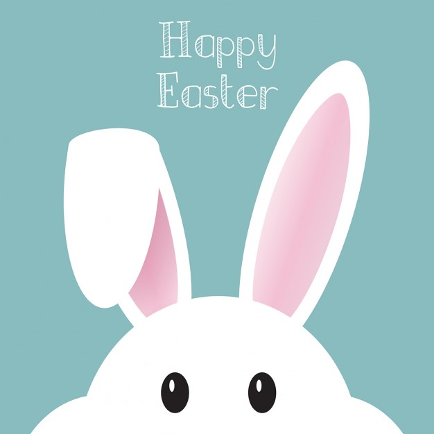 626x626 Cute Background With Easter Bunny Vector Free Download