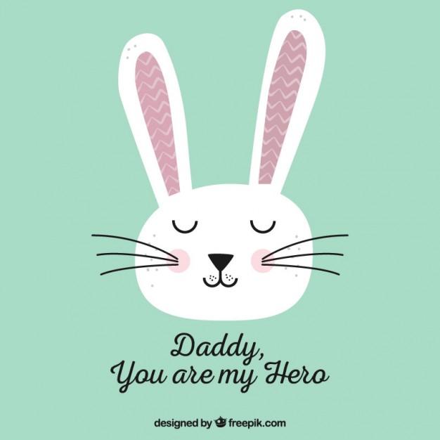 626x626 Cute Rabbit Card Vector Free Download