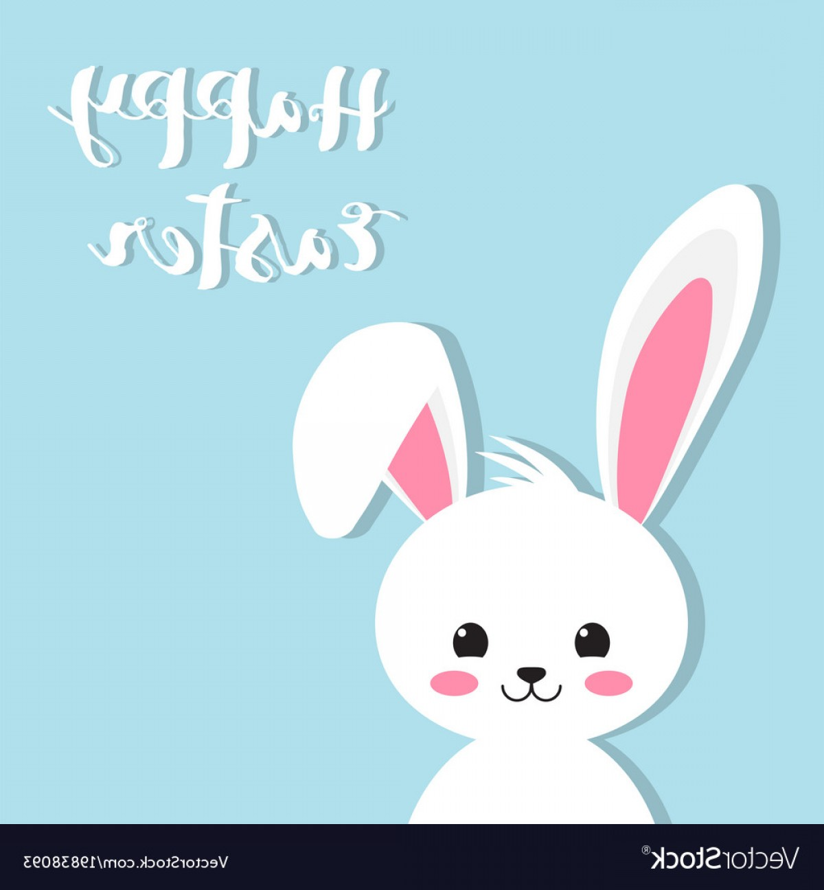 1200x1296 Happy Easter Rabbit White Cute Bunny Vector Shopatcloth