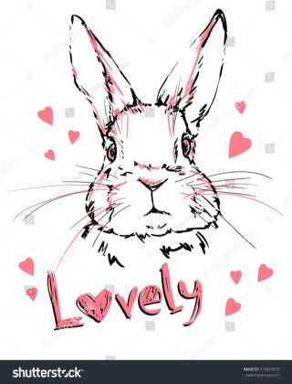 320x420 Illustration Cute Bunny Vector Rabbit Stock Pictures To Print