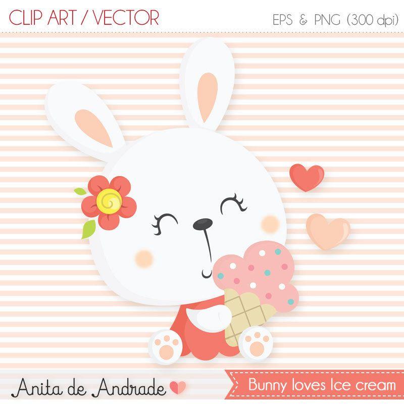 800x800 Bunny Ice Cream Clipart