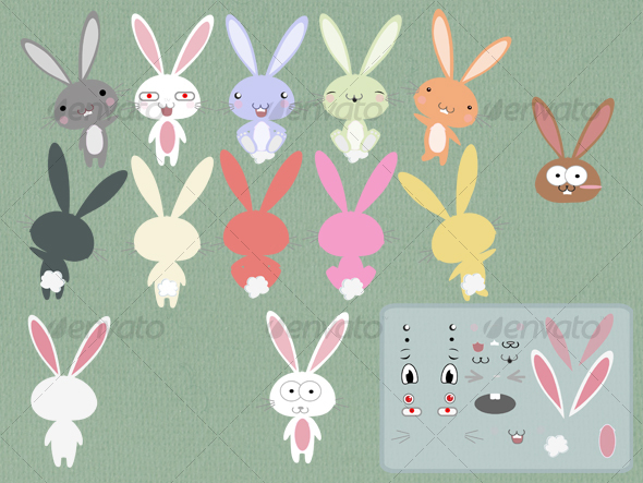 590x443 Cute Bunny Rabbit Vector By Sharonw1 Graphicriver