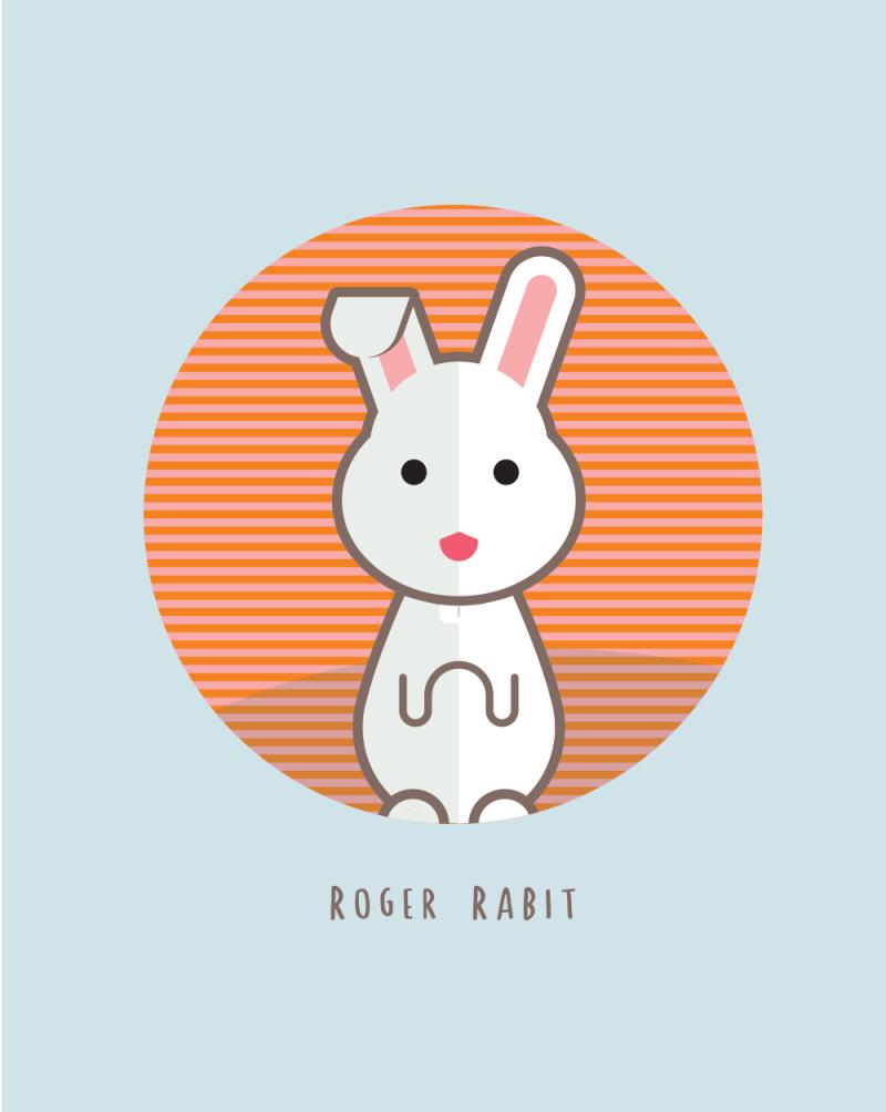 800x1004 Cute Bunny Vector Character Freebie Magz