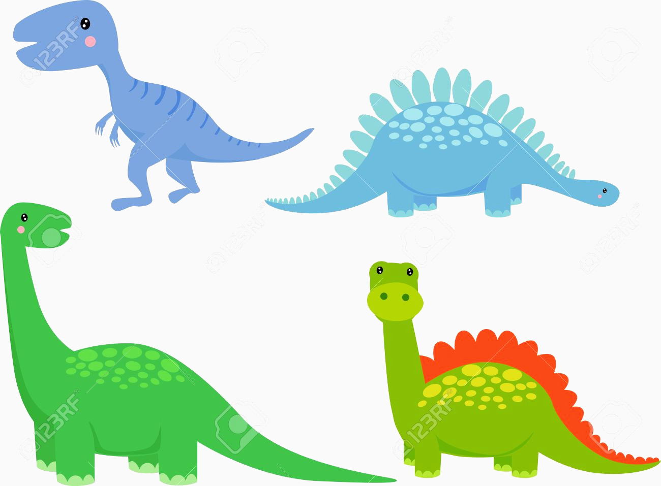 1300x957 Dinosaur Vector Unique Cute Dinosaur Vector Set Royalty Free