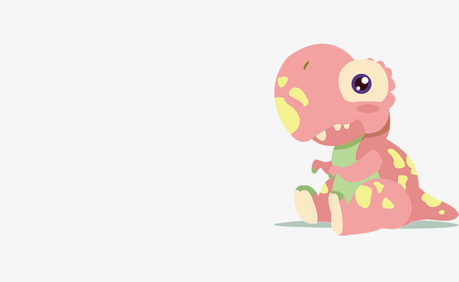650x400 Vector Cute Pink Little Dinosaur, Dinosaur Vector, Pink, Little