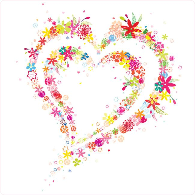650x650 Cute Flower Heart Vector Graphics Download Cosas Que Adoro
