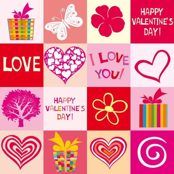 600x600 Cute Hearts Background Vector Free Vector 4vector