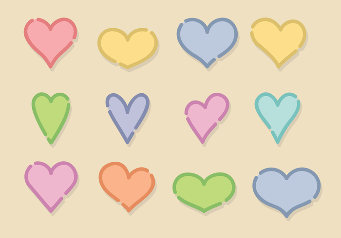 700x490 Free Cute Hearts Vector