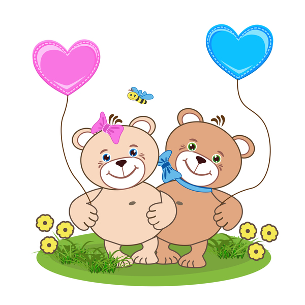 600x600 Cartoon Cute Teddy Bear With Heart Vector Material 03 Free Download