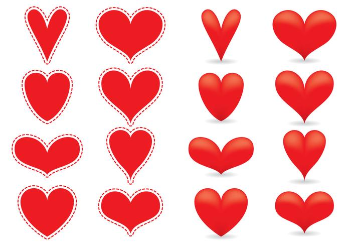 700x490 Red Heart Vectors