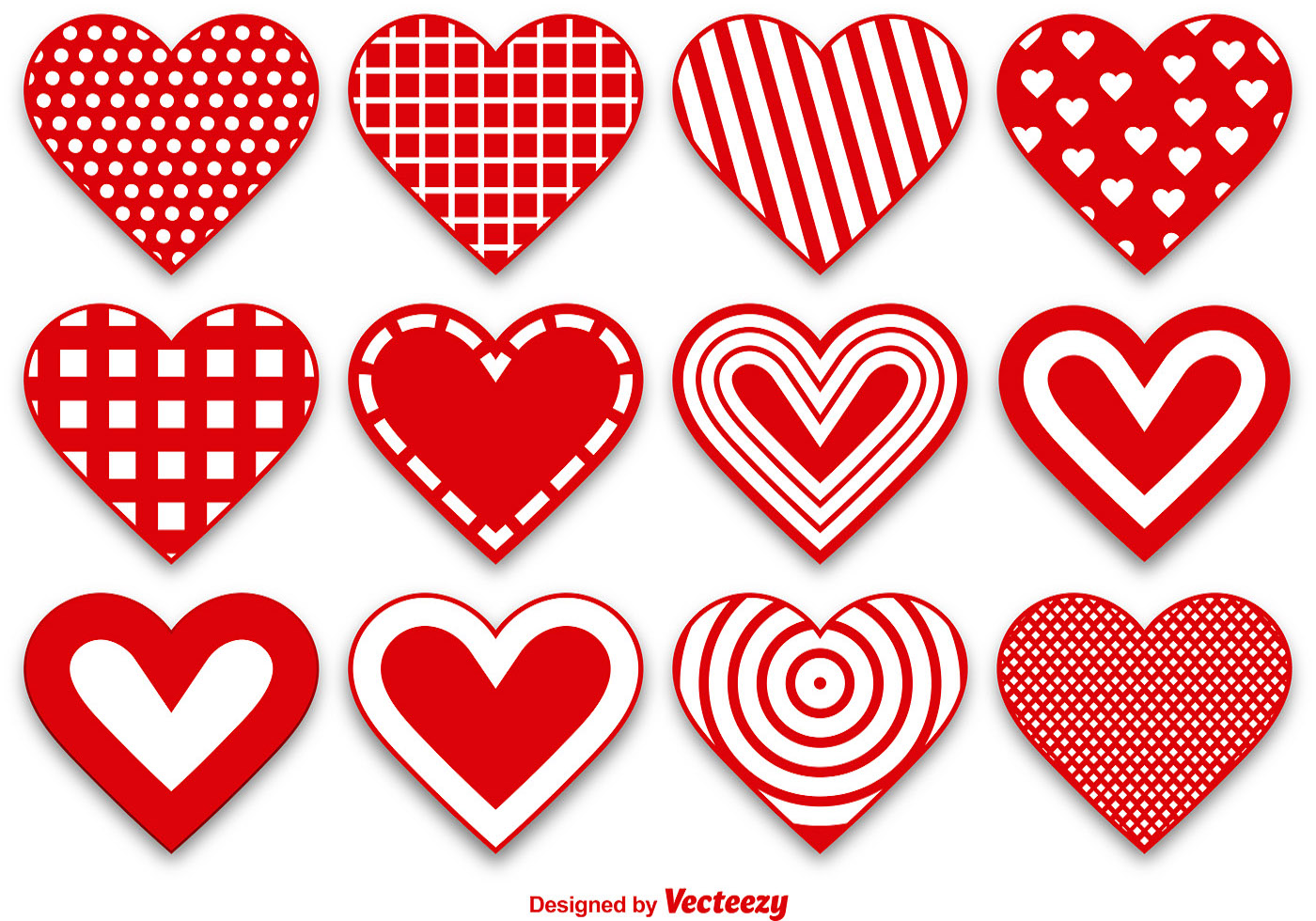 1400x980 Set Of Modern And Cute Heart Vectors