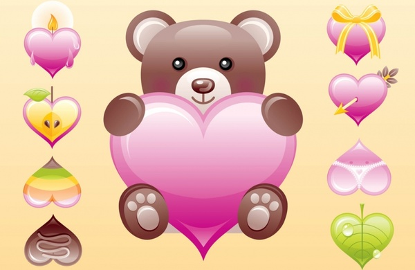 600x390 Cute Heart Vectors Free Vector In Adobe Illustrator Ai ( .ai