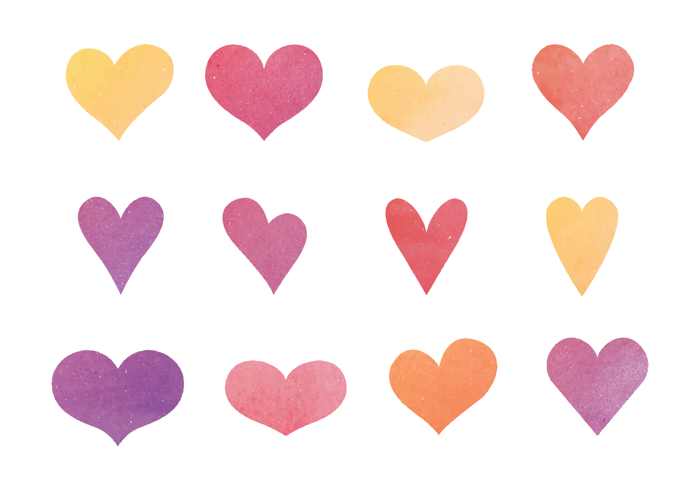 1400x980 Cute Hearts Free Vector Art