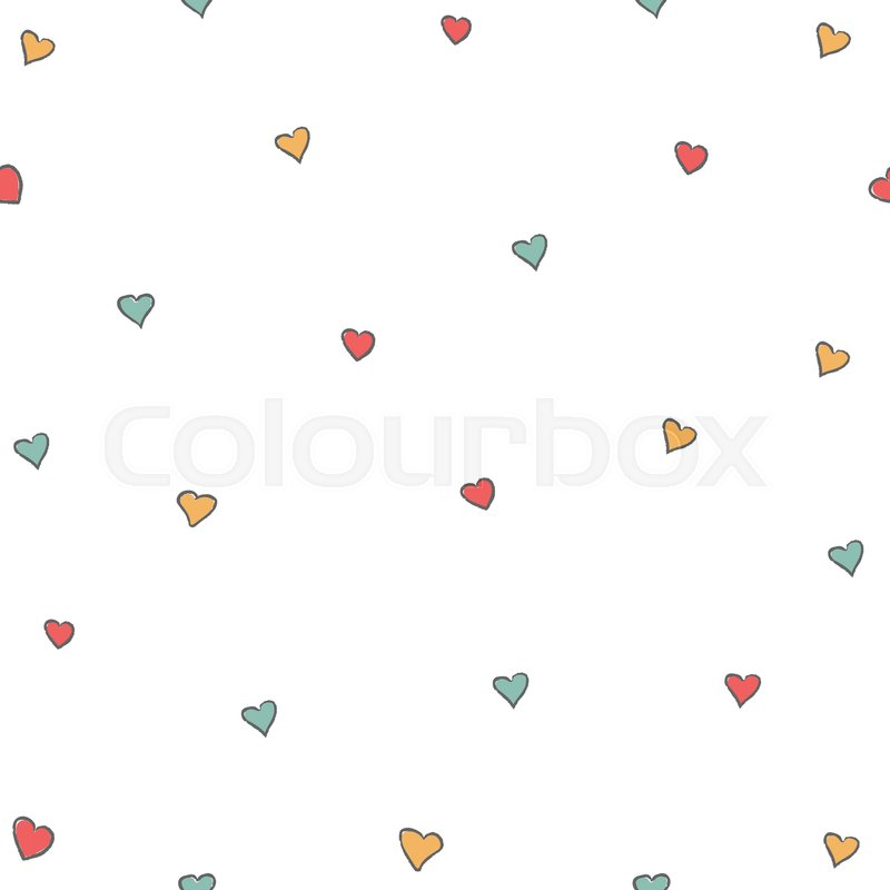 800x800 Cute Little Hearts Background. Seamless Pattern With Hearts