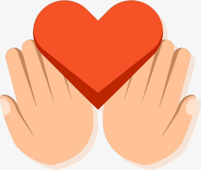 650x549 Cute Simple Heart Pattern Of Hands, Heart Vector, Pattern Vector